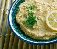 Limon Soslu Humus. Hummus with Lemon Sauce Stock Images