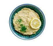 Limon Soslu Humus. Hummus with Lemon Sauce Royalty Free Stock Photo