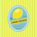 Limon squash retro fruit label vector illustration