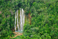 Limon Waterfall. Waterfall at the Limon town in Dominincan Republic Stock Images