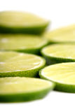 Limon on white background - close-up Stock Photography