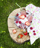 Limonada com framboesa Foto de Stock