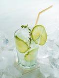 Limonada com gelo, cal Imagem de Stock