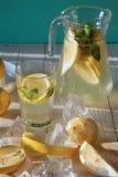 Limonada com limão e a hortelã frescos Fotos de Stock