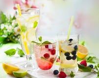 Limonada con las bayas y las frutas Fotografía de archivo libre de regalías