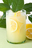 Limonada con las hojas del limón de Lotsa fotos de archivo