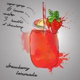 Limonada da morango Imagens de Stock