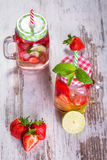 Limonada de la fresa del verano Imagen de archivo