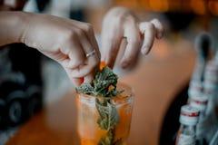 Limonada de refrescamento do ch? de gelo saboroso fotos de stock royalty free