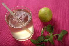 Limonada de Tulasi, Basil Lemonade santamente fotos de stock