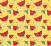 Limonada del verano con el papel pintado del vector de la sandía Imagenes de archivo
