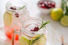 Limonada do arando no frasco de vidro Fotos de Stock