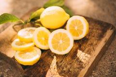Limonada do suporte, limão da fatia foto de stock royalty free