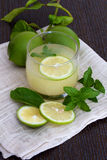 Limonada e hortelã frescas Fotografia de Stock