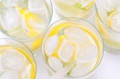 Limonada en vidrio Fotografía de archivo