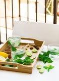 Limonada fresca con hielo Fotos de archivo libres de regalías