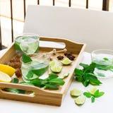 Limonada fresca con hielo Foto de archivo libre de regalías