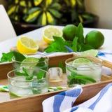 Limonada fresca con hielo Imagen de archivo