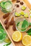 Limonada fresca con hielo Imagenes de archivo