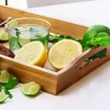Limonada fresca con hielo Imágenes de archivo libres de regalías