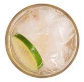 Limonada fresca do cocktail, soda do limão do mel com fatia do cal e MI fotos de stock