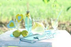 Limonada hecha en casa en la tabla Fotos de archivo libres de regalías