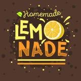 Limonada hecha en casa Logo Label Type Design tipográfico ilustración del vector