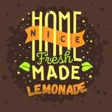 Limonada hecha en casa Logo Label Type Design tipográfico stock de ilustración