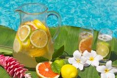 Limonada pelo lado da piscina Imagens de Stock