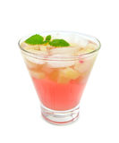 Limonade avec la rhubarbe et la menthe Photographie stock libre de droits