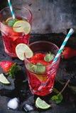 Limonade de fraise Images libres de droits