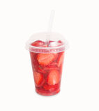 Limonade de fraise d'isolement sur le fond blanc Photo stock