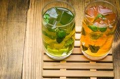 Limonade deux avec de la glace Photo libre de droits
