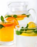 Limonade et oringeade frais images libres de droits