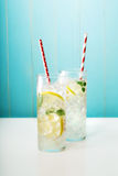 Limonade faite maison en verres Photo stock