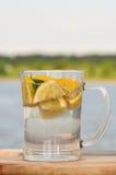Limonade met munt in een glas Stock Fotografie