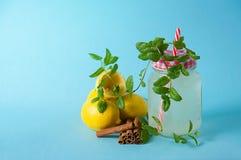 Limonade met verse munt Royalty-vrije Stock Afbeeldingen