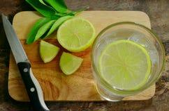 Limonade mit frischer Zitrone Stockbild