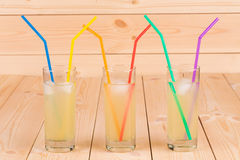 Limonade smoothie op de lijst Stock Afbeelding