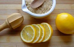 Limonadenoodzaak in landschaps hoogste close-up Stock Foto