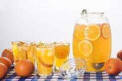 Limonata arancio immagini stock libere da diritti
