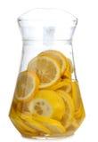 Limonata bianca di vetro Fotografia Stock