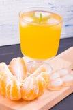 Limonata con gusto dei mandarini immagini stock libere da diritti
