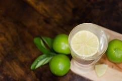 Limonata con il limone fresco Fotografia Stock