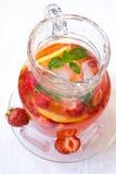 Limonata con le fragole Fotografie Stock Libere da Diritti