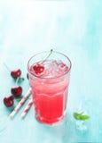 Limonata della ciliegia Fotografia Stock Libera da Diritti