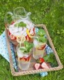 Limonata della fragola Fotografie Stock Libere da Diritti