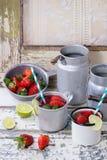 Limonata della fragola Fotografia Stock