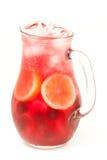 Limonata fresca dal limone e dalle bacche Fotografia Stock Libera da Diritti