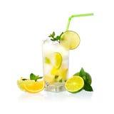 Limonata gialla Fotografia Stock